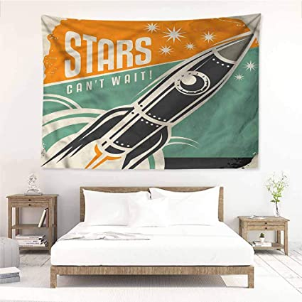 Amazon.com: Sunnyhome DIY Tapestry,Vintage Stars Quotation ...