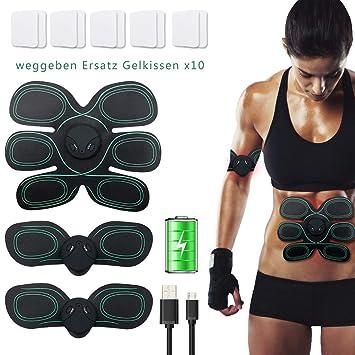 Maison-Market EMS - Tóner para entrenamiento muscular abdominal, recargable por USB, para