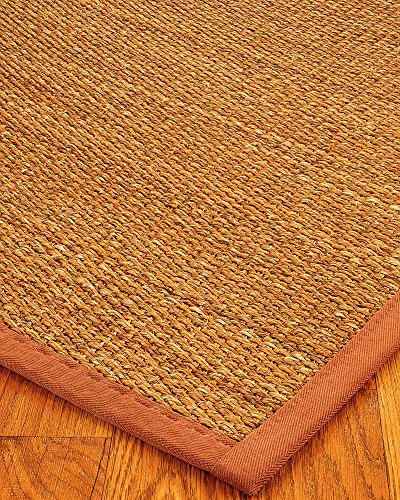 NaturalAreaRugs Sedona Collection Mt. Grass Fiber Area Rug, Handmade in USA, Mountain Grass, Non-Slip Latex Backing, Durable, Stain Resistant, Eco-Friendly (6 Feet x 9 Feet) Sienna Border (Mountain Grass Rugs)
