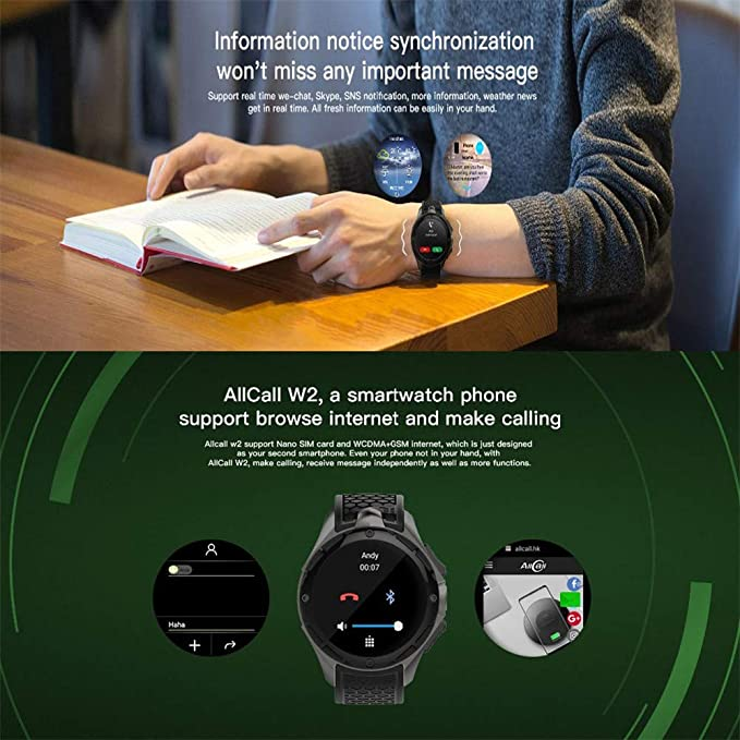 RENYAYA ALLCALL W2 3G Smart Watch Phone 16GB + 2GB 2MP ...