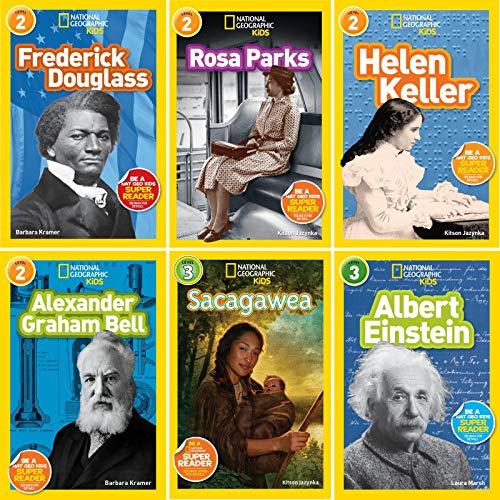 National Geographic Kids Reader Set : Rosa Parks, Albert Einstein, Helen Keller, Sacagawea, Alexander Graham Bell, Albert Einstein, Frederick -