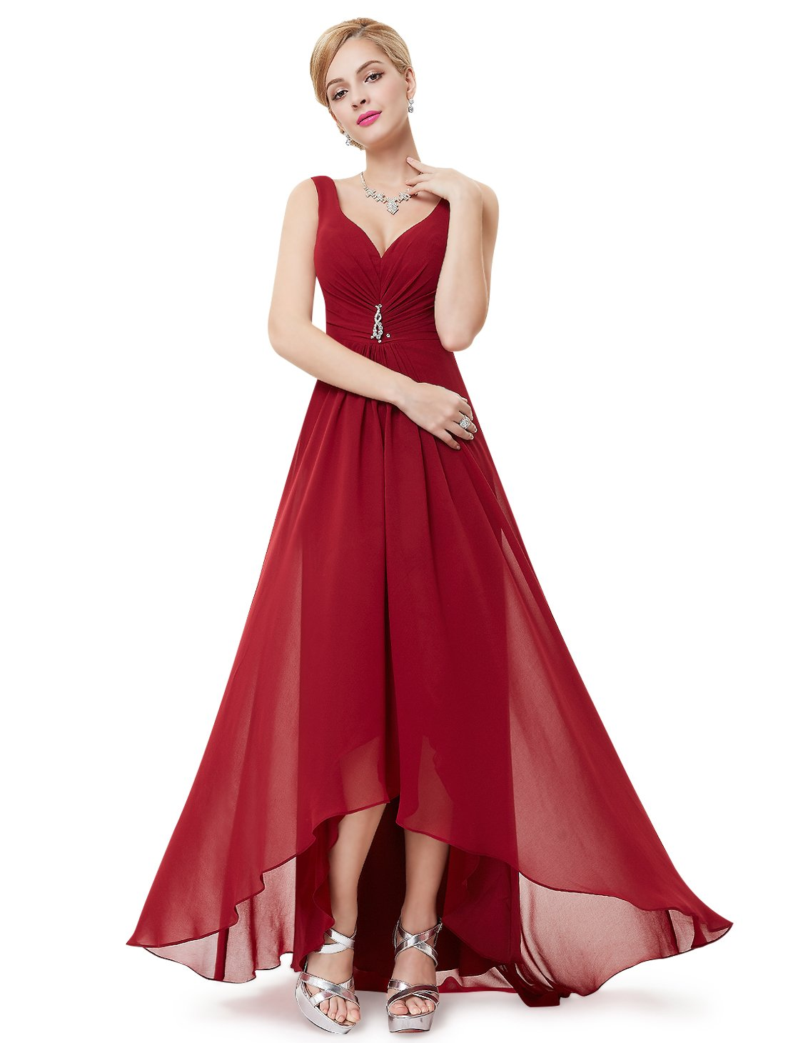 Ever-Pretty Womens Semi Formal Sleeveless Long Evening Dress 4 US Red