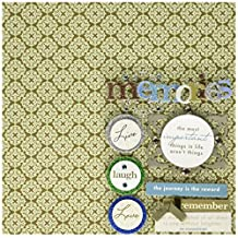 me & my BIG ideas 8-Inch x 8-Inch Scrapbook Page Kit, Sophisticated Memories