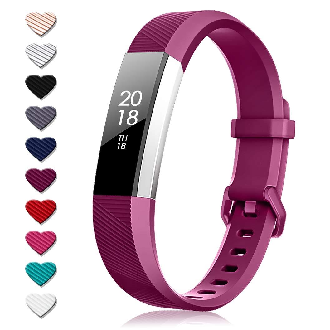 Malla para reloj Fitbit Alta HR (silicona, violeta) talle s
