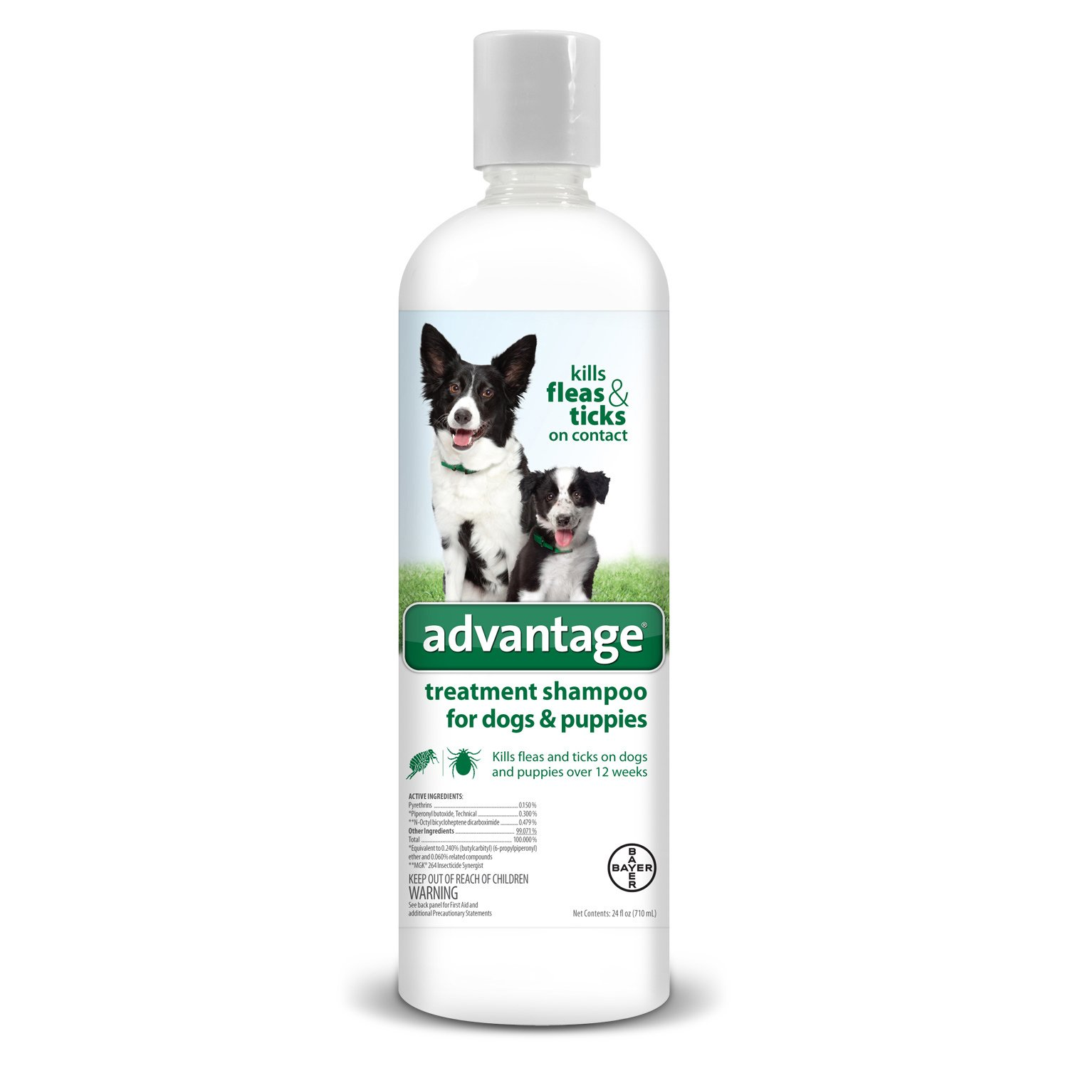 Bayer Animal Health Advantage Shampoo Flea and Tick Treatment for Dogs and Puppies 24 oz