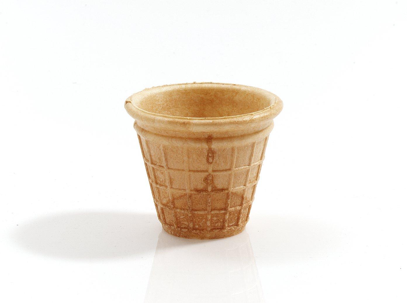 Cono de Helado | 45ml | 52xØ65mm | 30 pieza | Comestible Moldes para Muffin y Cupcake | Cuenchos para mermelada, salsas y frutas | Barquillos para helado ...