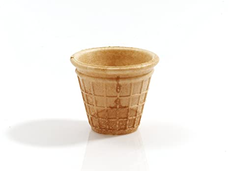 Cono de Helado | 45ml | 52xØ65mm | 30 pieza | Comestible Moldes para Muffin y