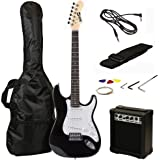 RockJam RJEG02-SK-BK Electric Guitar Starter Kit (Black)