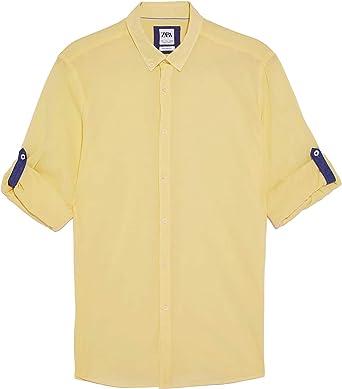 Zara Men 6048/400/300 - Camisa de Corte Casual Amarillo XXL ...