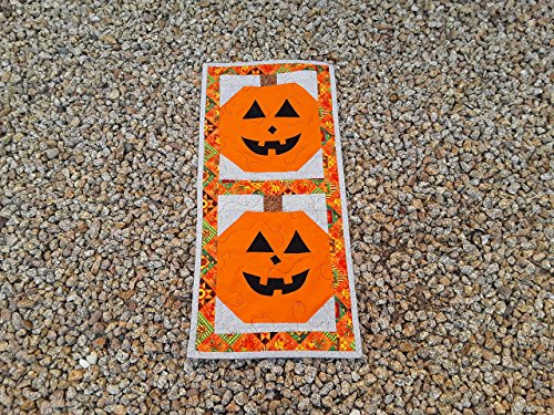 Handmade Halloween Pumpkin Table Runner Wall Hanging -