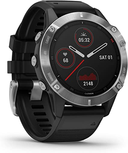 Garmin fenix 6, Premium Multisport GPS Watch, Heat and Altitude Adjusted V02 Max, Pulse Ox Sensors, Training Load Focus
