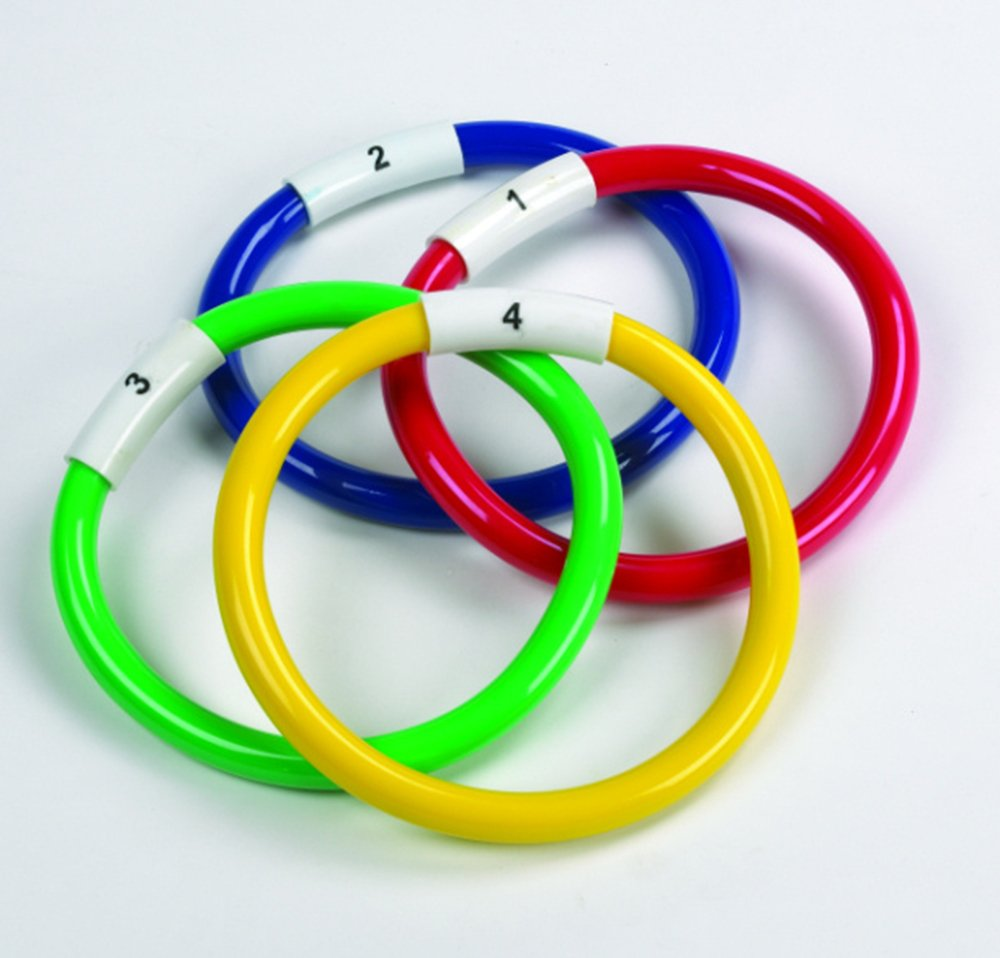 Sportsgear US Swimming Pool Diving Games Sinkers Colourful Rings Set of 4