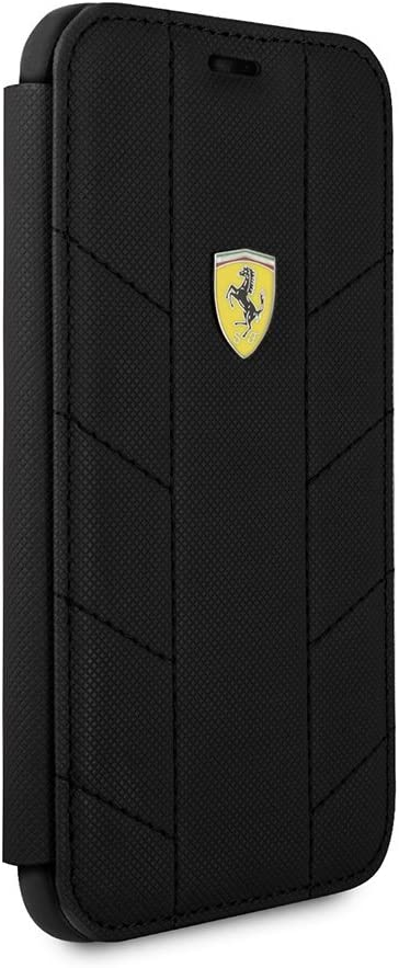 CG Mobile Ferrari Bookstyle Hard Case for iPhone X and for iPhone Xs Hard Cell Phone Cover Easy Snap-on Shock Absorption Cover Officially Licensed. Red