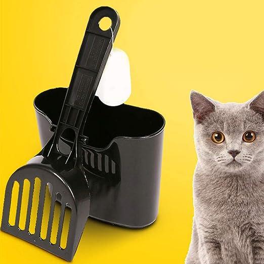 MASAP Juego de 2 Palas de Arena para Gatos, para Limpiar el terrario, Color Negro: Amazon.es: Productos para mascotas