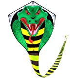 Large Cobra Kite for Adults Kids Boys with Super Long Tail (49 ft), Extra Easy to fly, Best Huge Kites for the Beach…