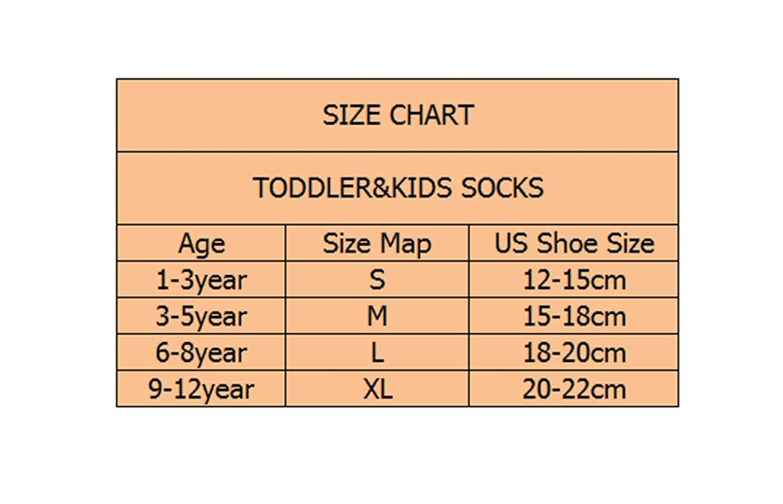 Morbuy Calcetines para Ni/ños Pack de 5 Pares de Antideslizante Calcetines para Ni/ños Algod/ón Rico