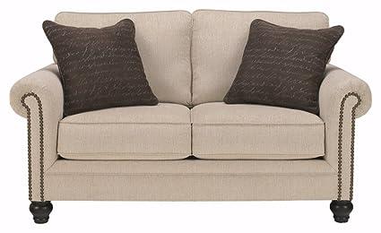 Attrayant Ashley Furniture Signature Design   Milari Loveseat And 2 Pillows    Contemporary   Linen White