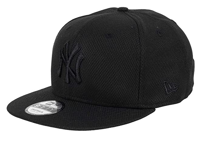 New Era 9Fifty New York Yankees MLB Tonal Diamond Era Negro en Negro Snapback Gorra de