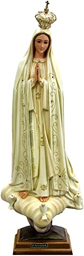 24 Inch Our Lady of Fatima Hand Painted Statue Religious Figurine Virgin Mary Made in Portugal 1036V