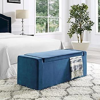 Amazon.com: Fabroni Blue Velvet Storage Bench - Shoe ...