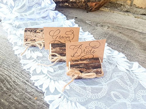 Set of 100 place card holders, name card holders, rustic wood card holder, country style card holder, 100 card holders, deciduous tree branch card holders, rustic chic, natural card holders by Forest Lion