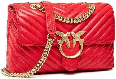 Pinko Bolso Love Lady Puff bandolera acolchada 1P22BU Y7FY R43 rojo