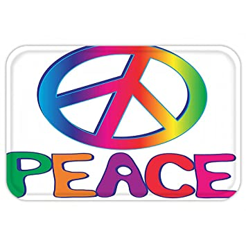 Amazon Vroselv Custom Door Matdecoration Collection Peace Text