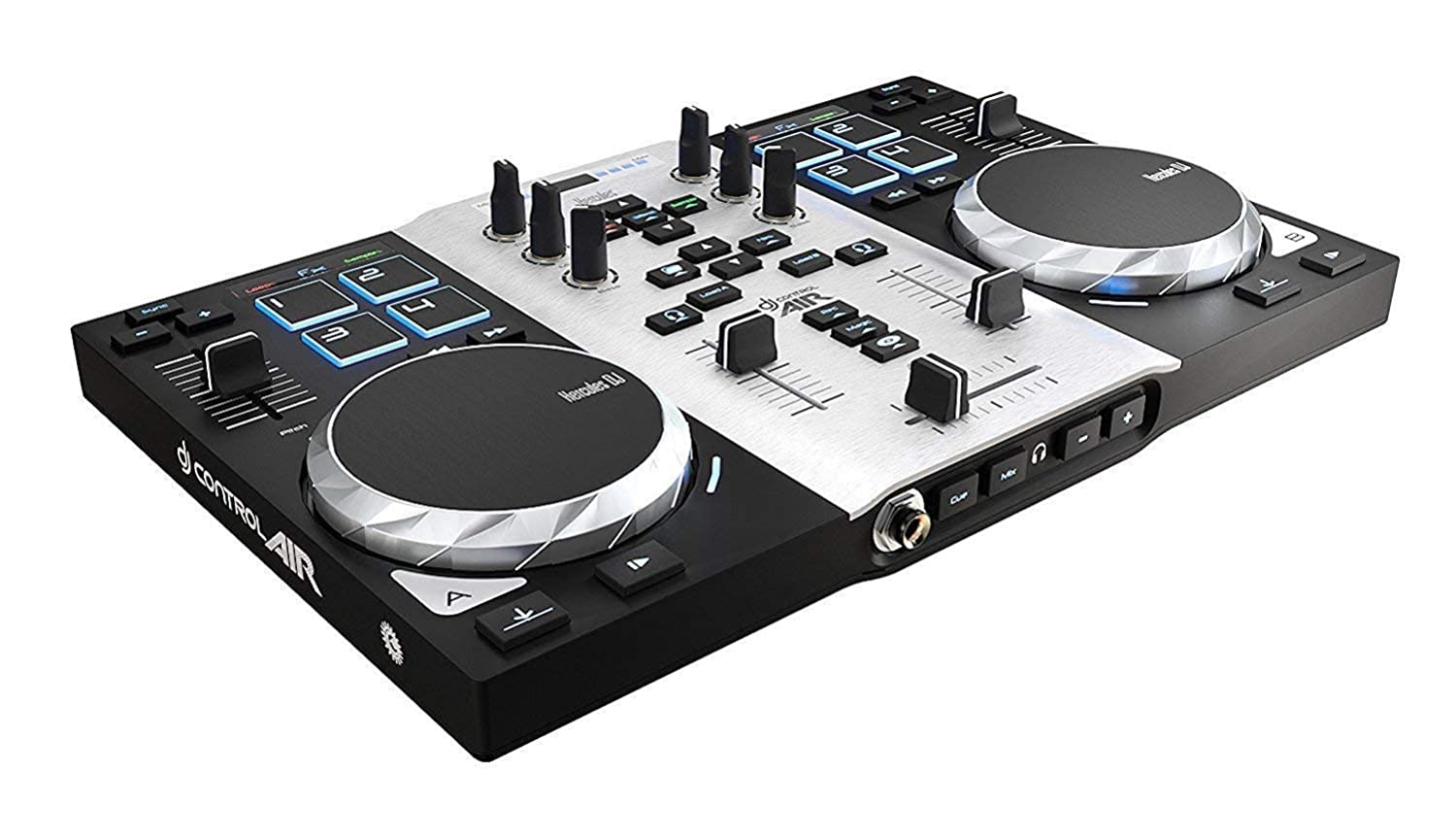 "Hercules DJControl AIR S series, USB DJ Controller with 8 Progressive Pads and ""AIR"" control with Audio Outputs for use with your headphones and your speakers (4780771) AMS-DJCONTROL-AIR"