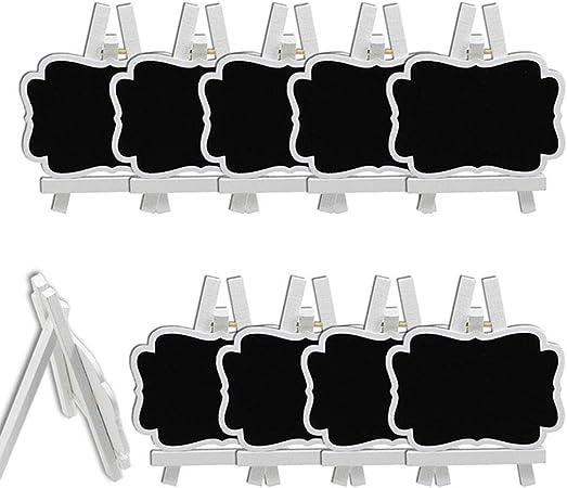 2 Mini Lavagna Segna Posto con Cavalletto Centrotavola Matrimonio Lavagnetta