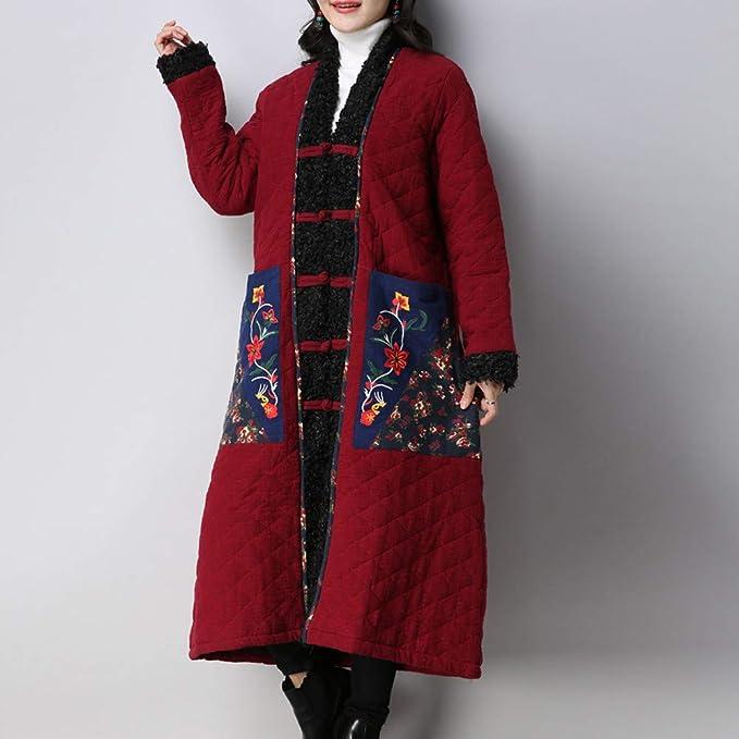 Abrigo Mujer Invierno Rebajas ZARLLE Abrigo de Invierno para Mujer Folk-Custom Cotton-Padded Lamb Cashmere Easy Cotton Jacket Encapuchada Invierno Abrigo de ...