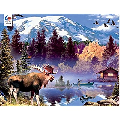 Wild - Moose Cabin Puzzle - 1000 Pieces: Toys & Games