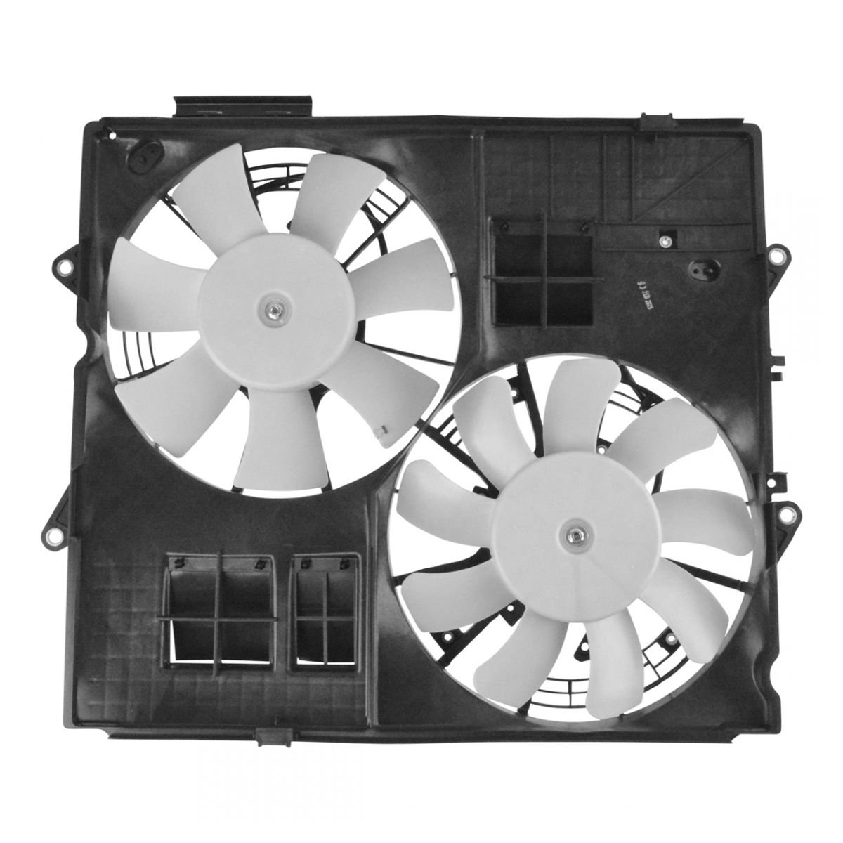 Radiator Dual Cooling Fan Assembly for Cadillac CTS-V 6.2L Supercharged AM Autoparts