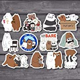 12Pcs/Lot American Anime We Bare Bears Sticker for Car Laptop Fridge Backpack Notebook Waterproof Stickers