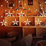 Best Outside Plug In Lights - Lightess 120 LED Star String Lights Decoration Curtain Review