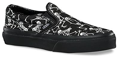 Amazon Com Vans Boys Classic Slip On Bone Dance Black Black