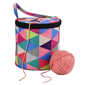 Mesh Stricktasche Stricken Organizer Häkeln Aufbewahrung Tasche für Wolle,