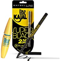 Maybelline Hypercurl Mascara + Super Black Kajal