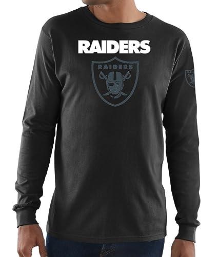 Amazon.com   Majestic Oakland Raiders NFL Elite Reflective Men s L S ... c33d4a7fb