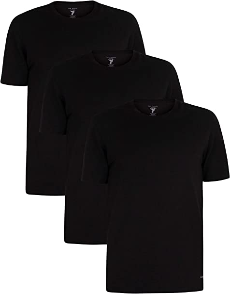 Ted Baker de los Hombres Pack de 3 Camisetas Lounge Crew, Negro ...