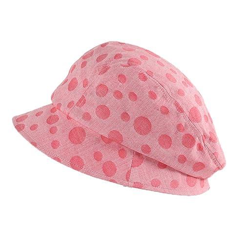 Boinas Mujeres Niñas Plegable Algodón Primavera Verano Sombreros de Sol