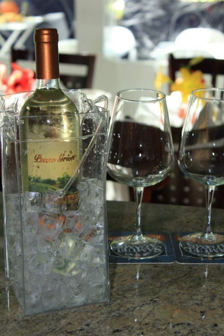 Ice Sac pliable Sac de refroidisseur de vin Set Of 2 claire