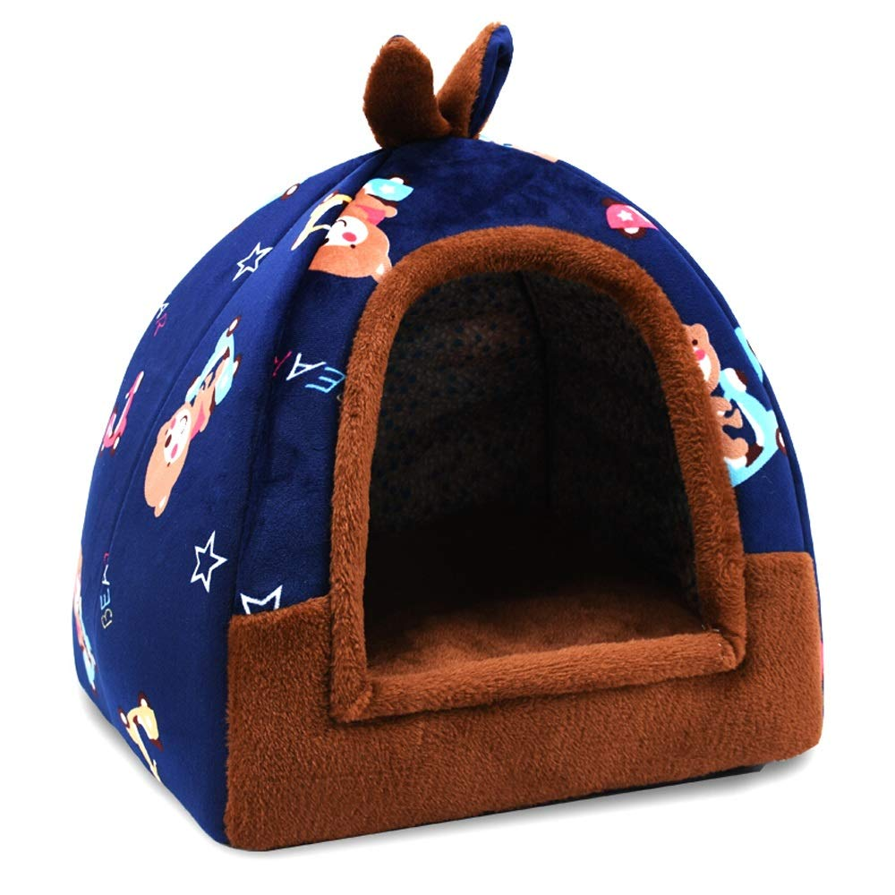 B 424243cm B 424243cm XF Pet Bed Pet Nest Camouflage Pattern Removable And Washable Small Dog Teddy Pet Nest Kennel Cat Litter Four Seasons Universal Pet Supplies Three Sizes Pet Supplies