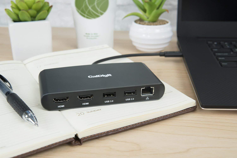 Dual DisplayPort 1.2 GbE LAN Aliment/é par Bus DP 1.2 Dual 4K @ 60Hz USB 3.0 40Gb - Portable Compatible avec Mac//PC Thunderbolt 3 CalDigit Thunderbolt 3 Mini Dock