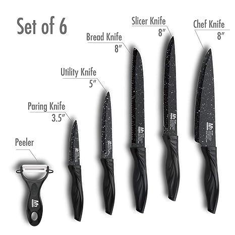 Amazon.com: MILLERHAUS Juego de cuchillos de acero ...