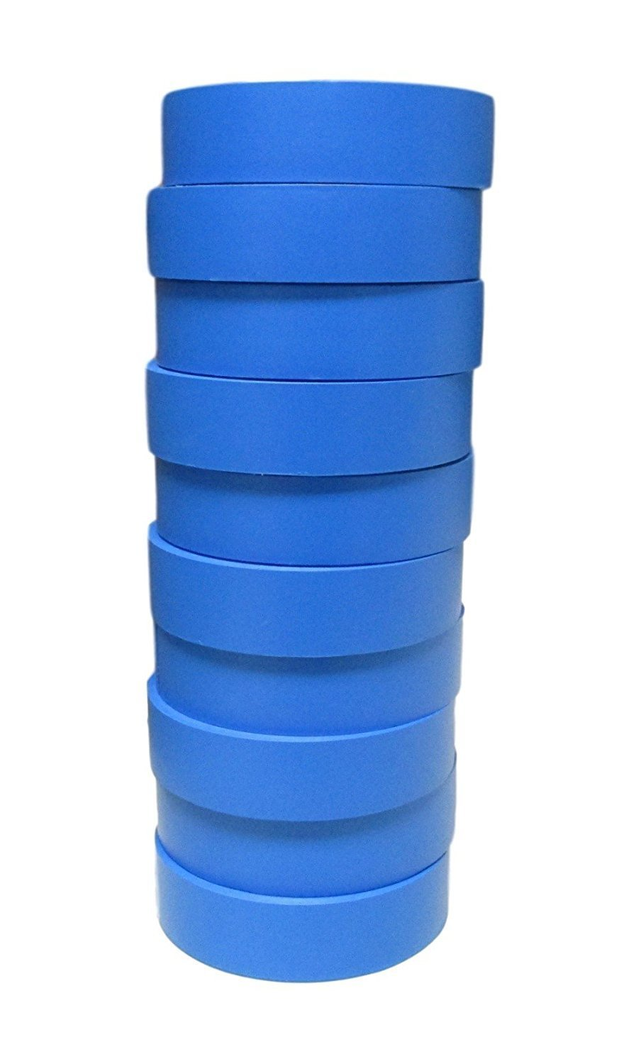 TradeGear Electrical Tape BLUE MATTE – 10 Pk Waterproof, Flame Retardant, Strong Rubber Based Adhesive, UL Listed – Rated for Max. 600V and 80oC Use – Measures 60' x 3/4'' x 0.07''