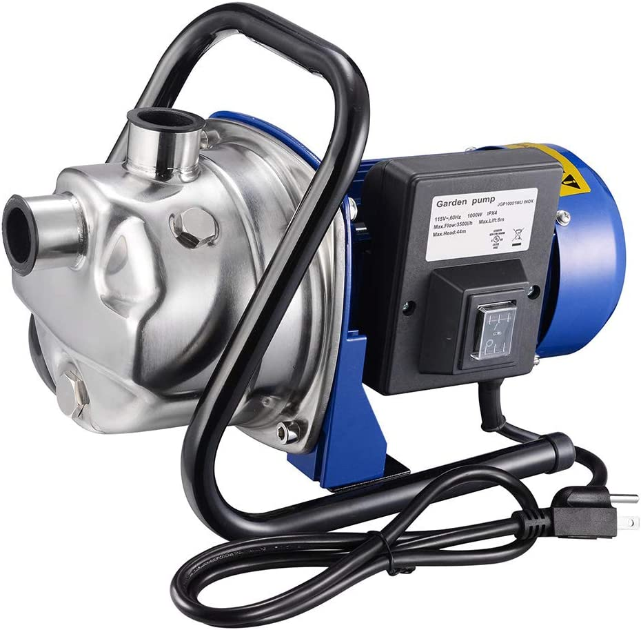 Yescom 770GPH Portable Mini Electric Transfer Utility Water Pump Waterbeds Aquariums Garden 304 Steel Sprinkler Pump