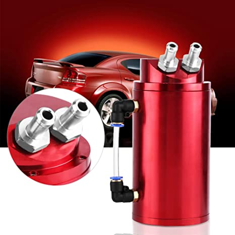 Universal Car Auto de aluminio Racing Sports Motor del respiradero del depósito de aceite Catch Can tanque Manguera 10 - 15 mm accesorios: Amazon.es: Coche ...