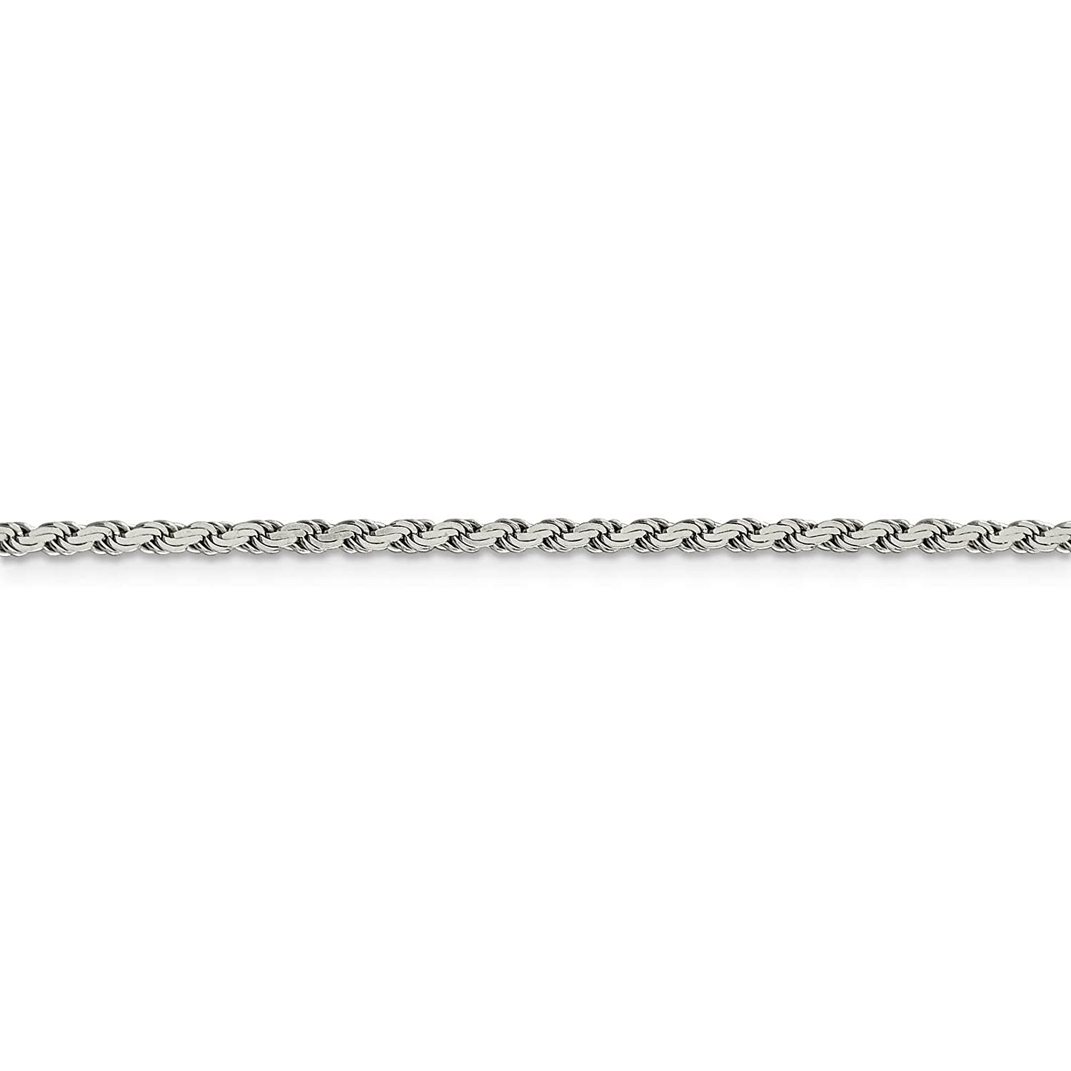 925 Sterling Silver 2.2mm Flat Rope Chain Necklace 7-24