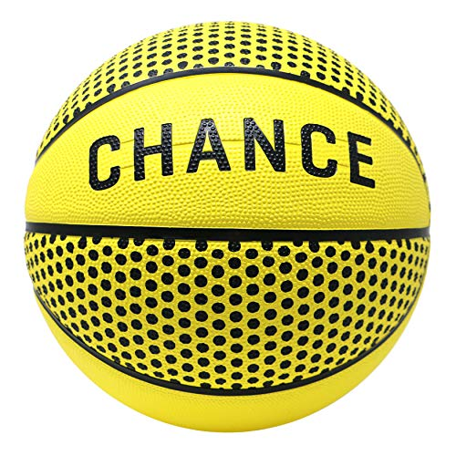 (Chance Premium Rubber Outdoor Basketball (Sizes 5,6,7) - Best Outdoor, Black-Top, Concrete, Practice & Playground Courts (Size 7 (29.5), Hero))
