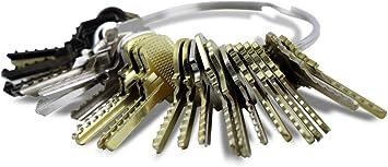 Kit de 48 llaves bumping Bump-Keys para cerraduras de serreta ...